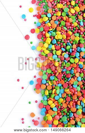 Colorful Sugar Sprinkle Dots, Decoration For Cake And Bakery