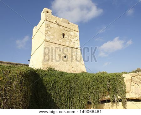 Sudika Wied iz-Zurrieq Tower in Malta, Europe. Watch tower in Malta