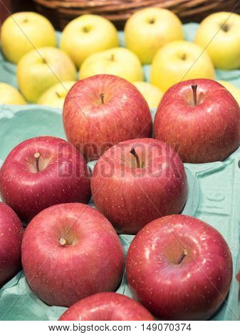 Red Apples of farmer in Fresh Market