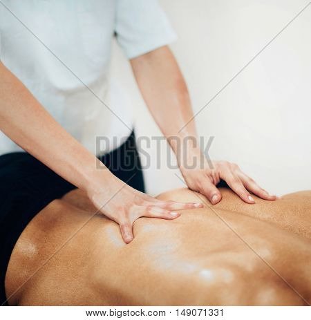Sports Massage - Massaging Back