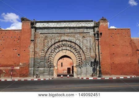 The Bab Agnaou in Marrakesh Morocco, Africa