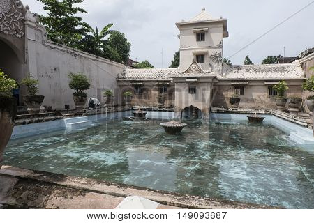 TAMAN SARI YOGYAKARTA, INDONESIA , APRIL 2016:- A Water Castle which is Full of Beauty and Secret of  architecture deoration .