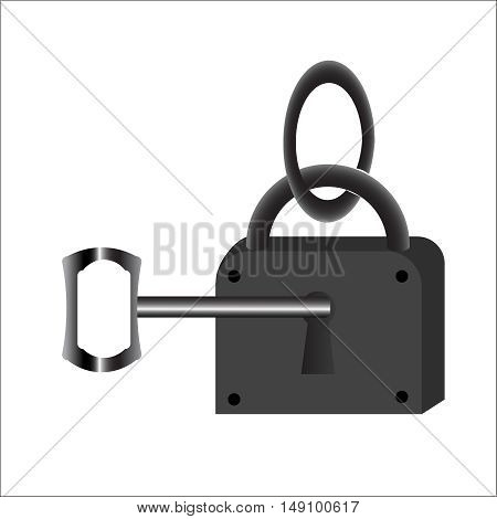 Lock with key. Vector,ownership, property, protect, real, render, rendering,