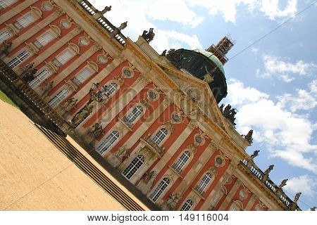 The new Palace (Neues Palais) in the royal Park Sanssouci in Potsdam Germany.