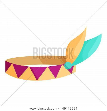 Indian headband icon in cartoon style isolated on white background. Accessory symbol vector illustration