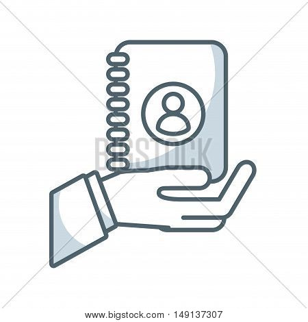agend directory flat icon vector illustration design