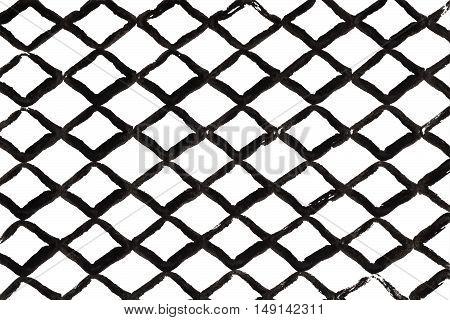 Grunge Diamond Black Strokes Pattern.