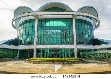 Labuan,Malaysia-Sept 26,2016:Labuan International Sea Sports Complex at Labuan.The complex houses the main sea sports centre,an administrative block,a marine biology museum,souvenir shops.
