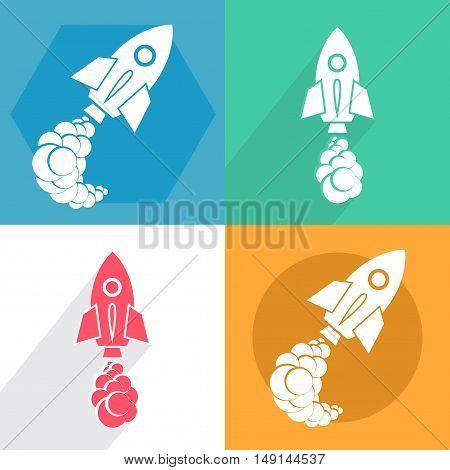 Start of the rocket ship. Spaceship cliche.