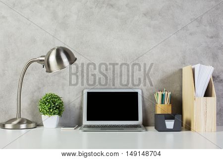Blank Laptop Computer