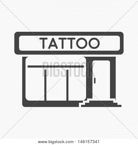 Tattoo salon building parlor icon cartoon. Single tattoo icon from the big studio collection.