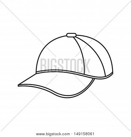 Cap icon. hat accessory sport and hobby theme. Isolated design. Vector illustration