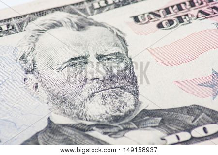 Former US president Ulysses S. Grant on the fifty dollar note