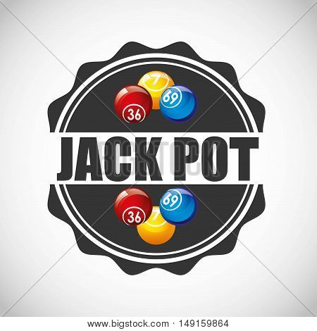 jack pot casino game icon vector illustration design