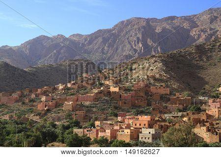 Village in moroccan Anti Atlas Mountains, Morocco
