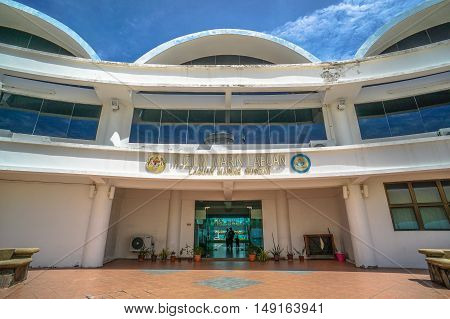 Labuan,Malaysia-Sept 26,2016: Labuan Marine Museum is one of the many places of attractions in Labuan.The Labuan Marine Museum was opened in 2003 and serves to preserve the marine life of Labuan.