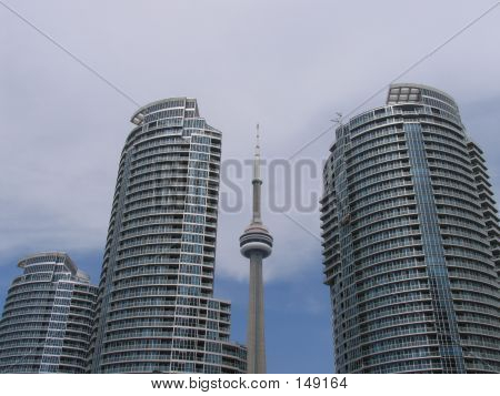 Cn Tower With Condominiums