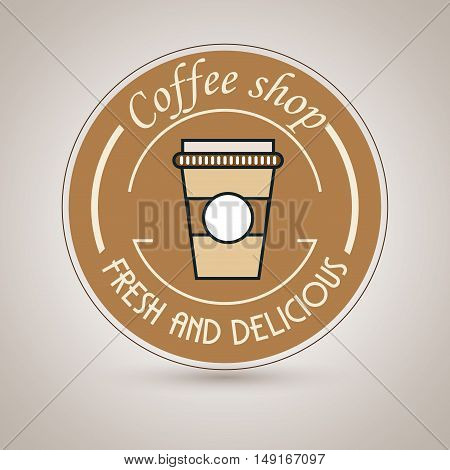 coffee shop fresh and delicious vector illustration eps 10