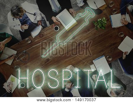 Medical Team Discussion Diagnose Disease Concept