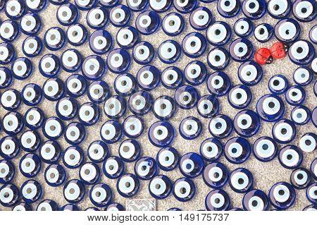 Evil eye. Mediterranean people believed that evil eye keeps evil things away and brings good luc