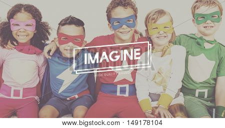 Imagine Innocence Kids Childhood Empowerment Concept