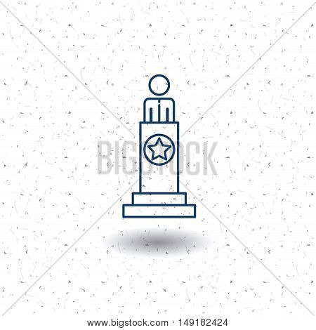 President icon. Vote election nation and government theme. Silhouette and isolated design. Vector illustration poster