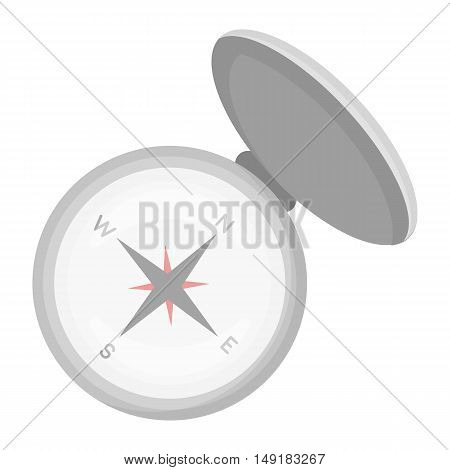 Compas icon in cartoon style isolated on white background. Hunting symbol vector illustration.