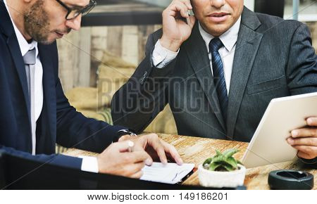 Business Planning Analysis White Collar Worker Concept