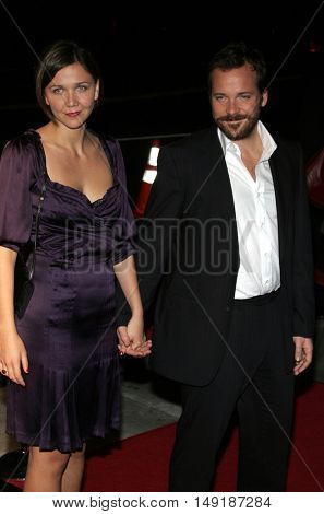 Maggie Gyllenhaal and Peter Sarsgaard at the World premiere of 'Jarhead' held at the Arclight Cinemas in Hollywood, USA on October 27, 2005.