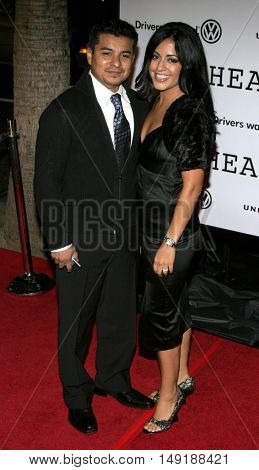 Jacob Vargas and wife Sylvia at the World premiere of 'Jarhead' held at the Arclight Cinemas in Hollywood, USA on October 27, 2005.