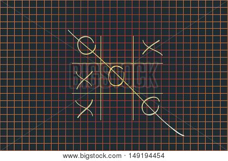 tic tac toe XO game, simple game