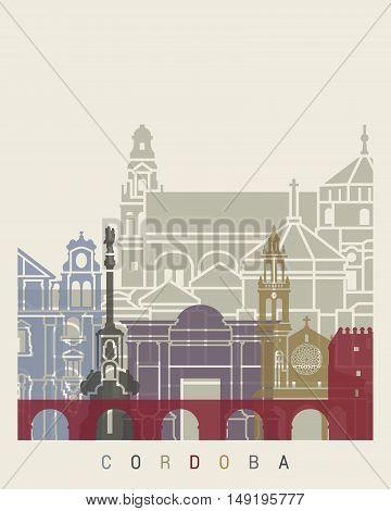 Cordoba Skyline Poster