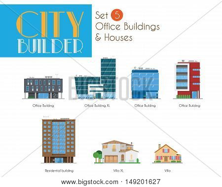 City Builder Set 5: Office Buildings and Houses