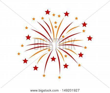 Firework On White Background