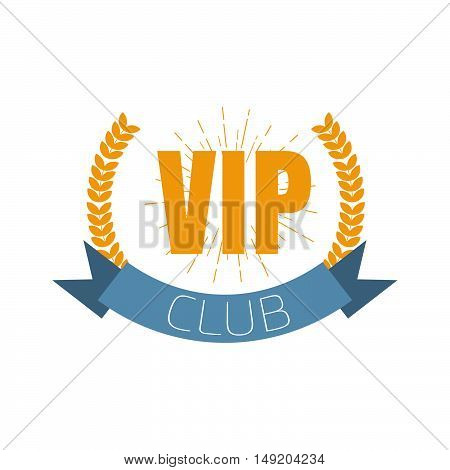 VIP club logo in flat style or icon