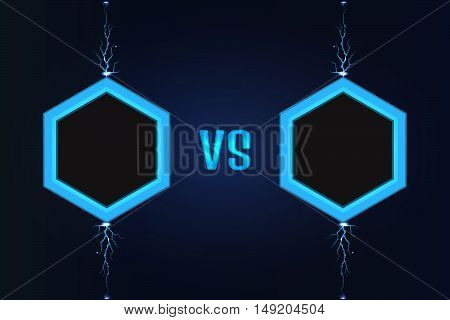Versus Screen vector. Stock vector. Vector illustration.