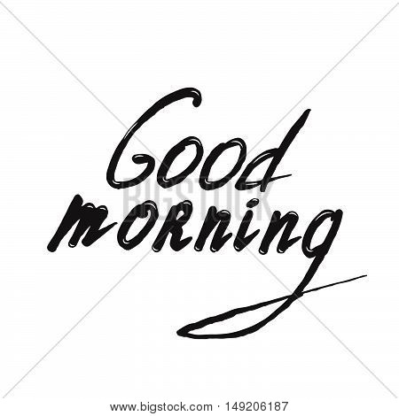 Good Morning lettering. Vector illustration. Stock vector.
