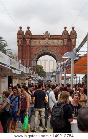Barcelona, Spain - 25 September 2016: 36 Wine And Cava Festival 2016 Visitors.