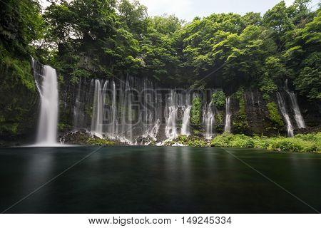 Shiraito Falls in Fujinomiya, Shizuoka, Japan near Mt Fuji
