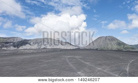 BROMO TENGGER EAST JAVA INDONESIA, APRIL 5 2016 :Mt. Bromo volcano, Sacrificial site at the entrance to climb a volcano mt. Bromo. Bromo Tengger Semeru National Park, East Java, Indonesia.