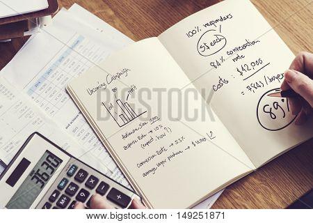 Financial Calculate Budget Calculator Balance Concept