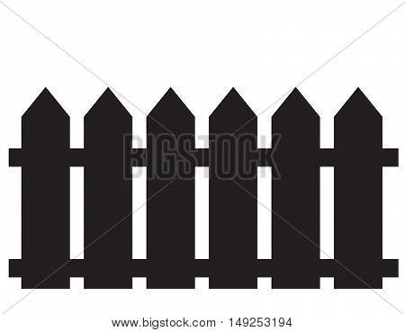 fence icon. fence icon object. fence icon on white background