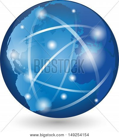 Earth, globe logo, globe, logo, sign, movement, business