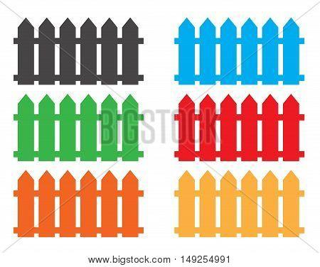 fence icon. fence icon object, multicolor fence icon