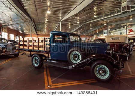 El Segundo, CA, USA - September 26, 2016: 1933 REO Speedwagon displayed at the Automobile Driving Museum in El Segundo, California, United States. Editorial use only.