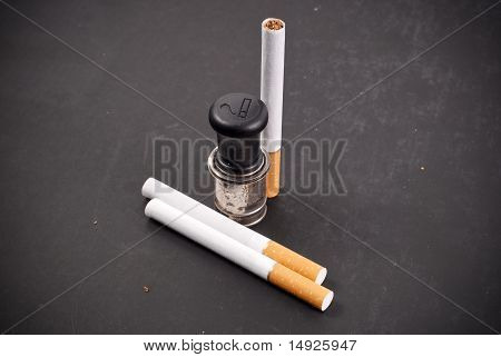 Smoking In The Car Concept Image