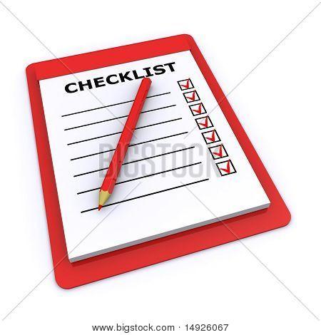 Lista de verificação 3d