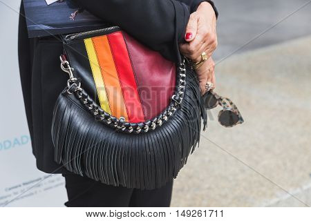 Detail Of Bag During Milan Fashion Week