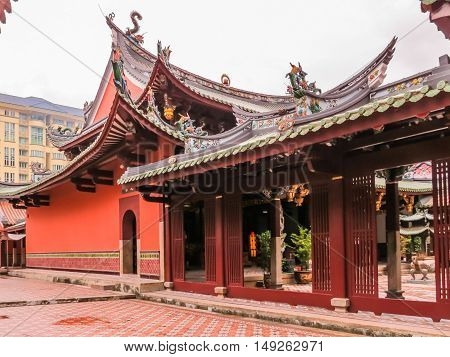Thian Hock Keng Temple or Temple of Heavenly Happiness - is one of the oldest and most important Chinese Buddhist Temples in Singapore. Duxton Hill area Singapore