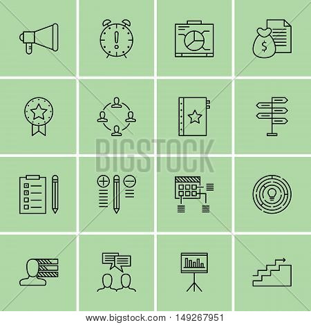 Set Of Project Management Icons On Task List, Money Revenue, Decision Making And More. Premium Quali